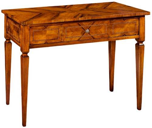 Complementi d 39 arredo consolle tavolo intarsiato noce for Tavolo consolle 80 cm