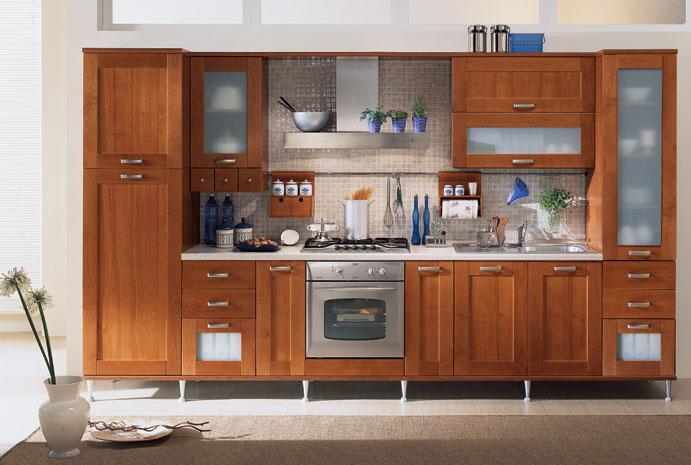 Cucine Moderne: CUCINA MOD. AMBRA CILIEGIO