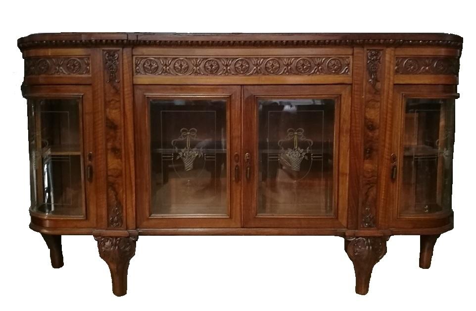 Antiquariato mobili antichi credenza neo barocco for Vendita mobili modernariato