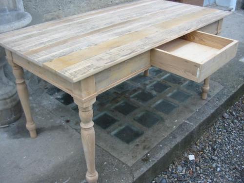 Tavoli tavolini d 39 arredo tavolo legno abete grezzo - Mobili in legno grezzo da dipingere ...