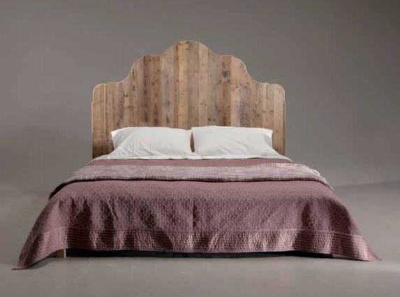 Letti in ferro legno letto naturale sagomato liscio - Letto matrimoniale legno naturale ...