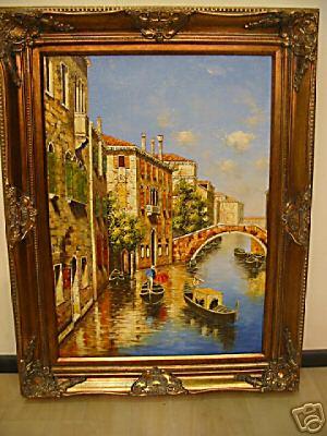 Quadri cornici specchi quadro olio su tela cornice francese for Cornici in polistirolo per quadri