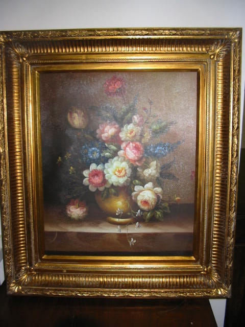 Quadri cornici specchi quadro olio su tela cornice olandese for Cornici quadri