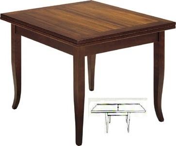 Tavolo Quadrato A Libro.Tavoli Tavolini D Arredo Tavolo A Libro Noce Quadrato Allungabile
