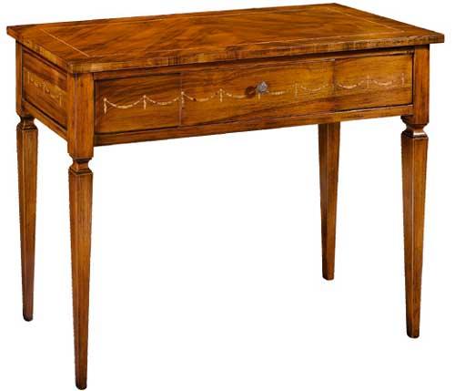Tavoli tavolini d 39 arredo tavolo consolle noce intarsio for Tavolo consolle noce