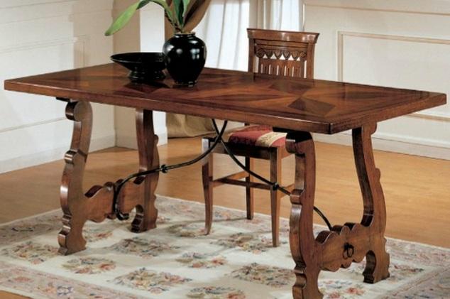 Tavoli tavolini d 39 arredo tavolo fratino noce massello for Tavolini arredo