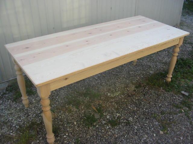 Tavoli tavolini d 39 arredo tavolo legno abete grezzo for Tavolo legno grezzo