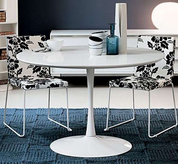 Beautiful tavolo tondo bianco contemporary - Tavolo rotondo allungabile bianco ...