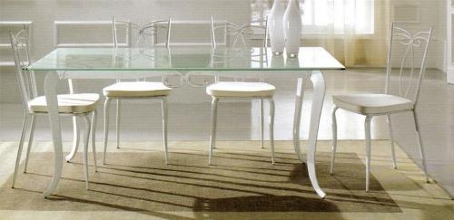 Tavoli tavolini d 39 arredo tavolo ferro battuto e vetro - Tavolini vetro e ottone ...