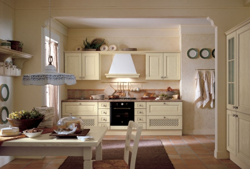 Cucine classiche cucina mod elenia decap avorio noce for Mobilia cucine