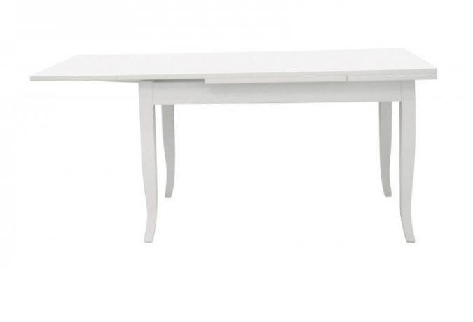 tavolo laccato bianco allungabile