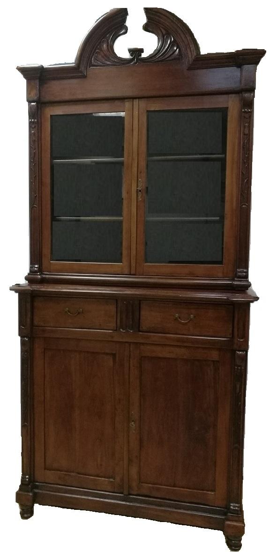 Vetrina credenza ciliegio liberty fine 800 primi 900 italia for Vendita mobili modernariato